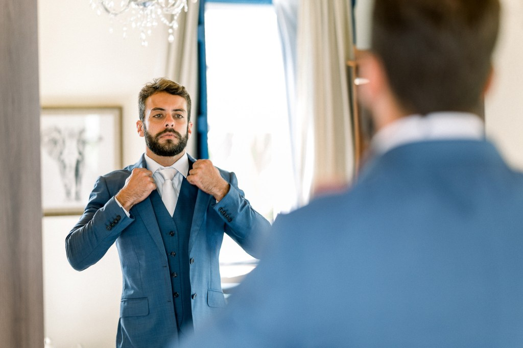 terno azul para noivo