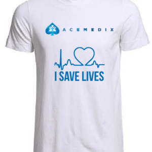 Acemedix I Save Lives T-Shirt – White
