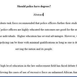 should police have degrees