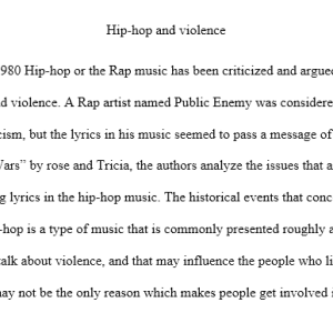 Hip-hop and Violence