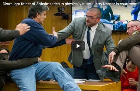 GoFundMe nets thousands for dad who charged convicted child sex abuser Larry Nassar in court