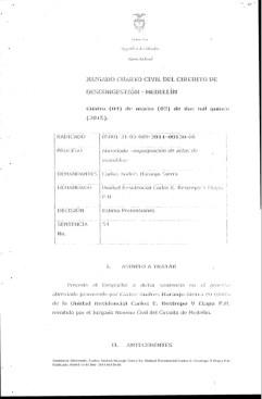 Fallo Juzgado contra Carlos E. Restrepo PH