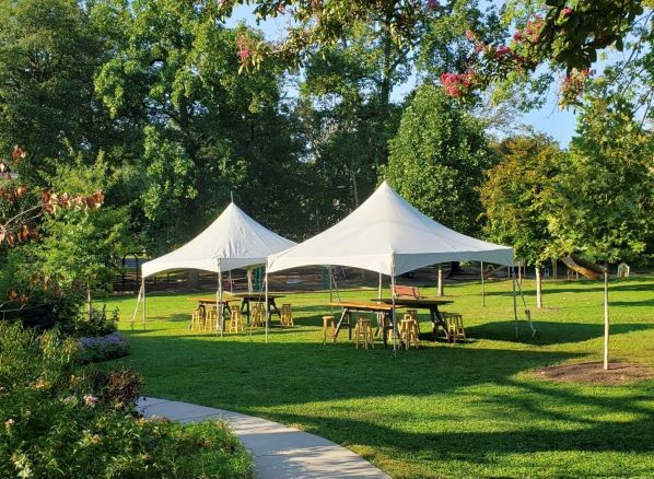 Example- Two 15'x15' High Peak Tent