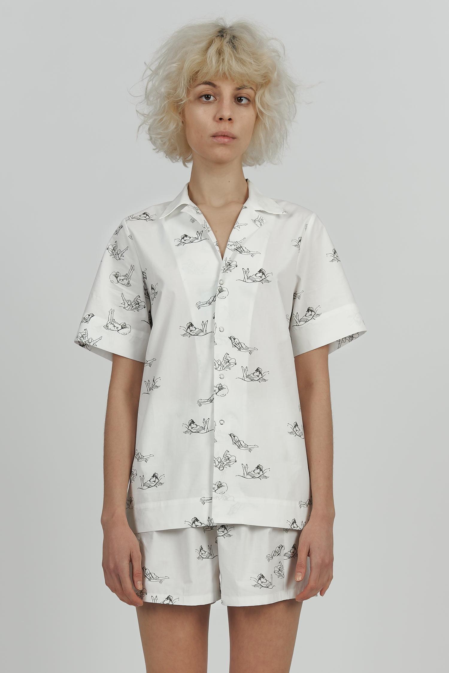 Acephala Hysteria Pyjamas Print Cotton Loose Front Crop