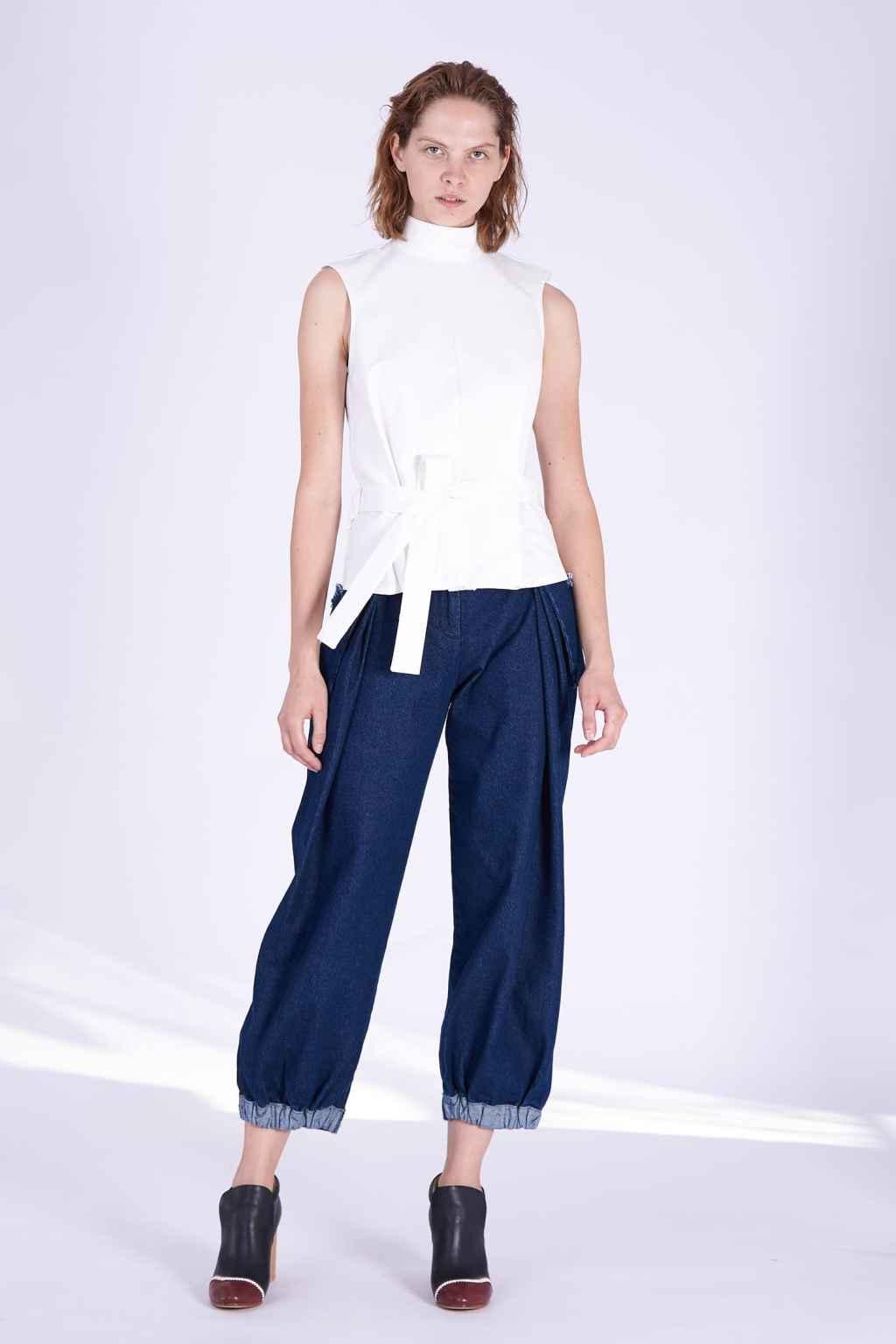 Acephala AW2018-19 Dark Blue Jeans // Spodnie Jeansy Ciemny Niebieski