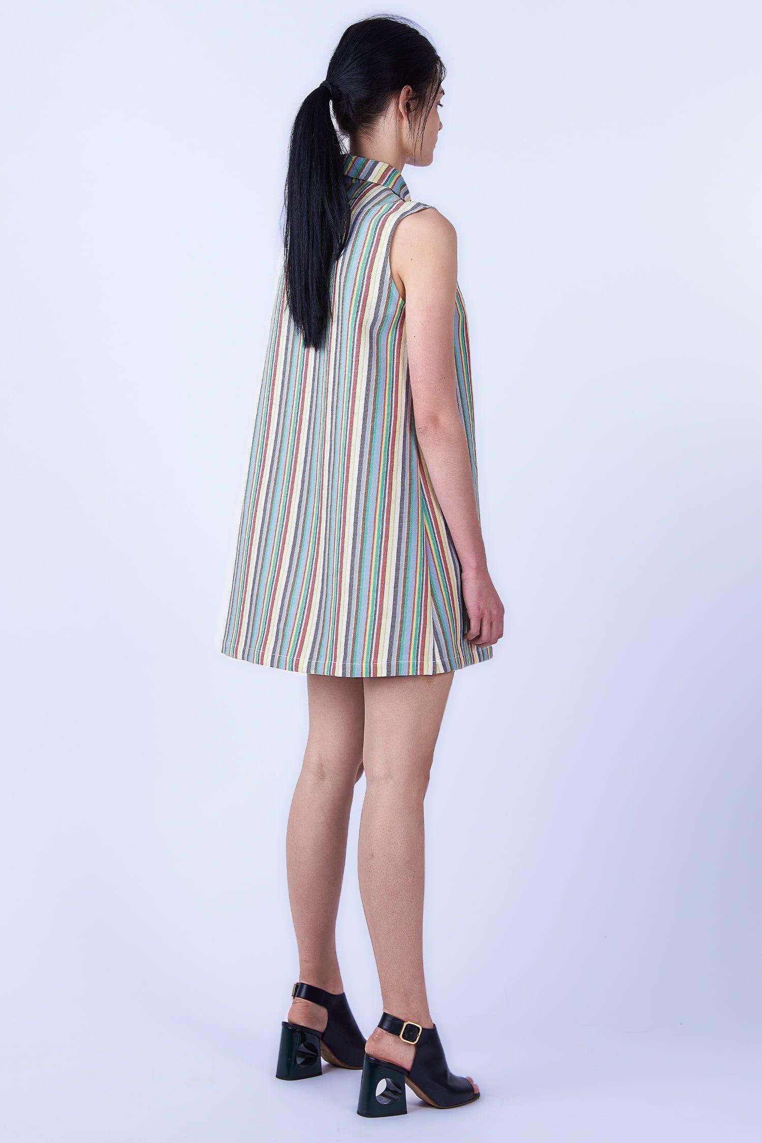 Acephala SS2019 Slavic Goddesses Color Striped Midi Dress back