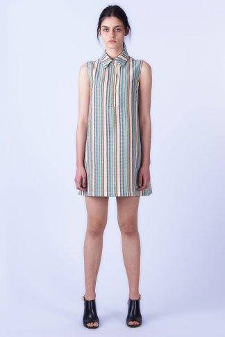 Acephala SS2019 Slavic Goddesses Color Striped Midi Dress front