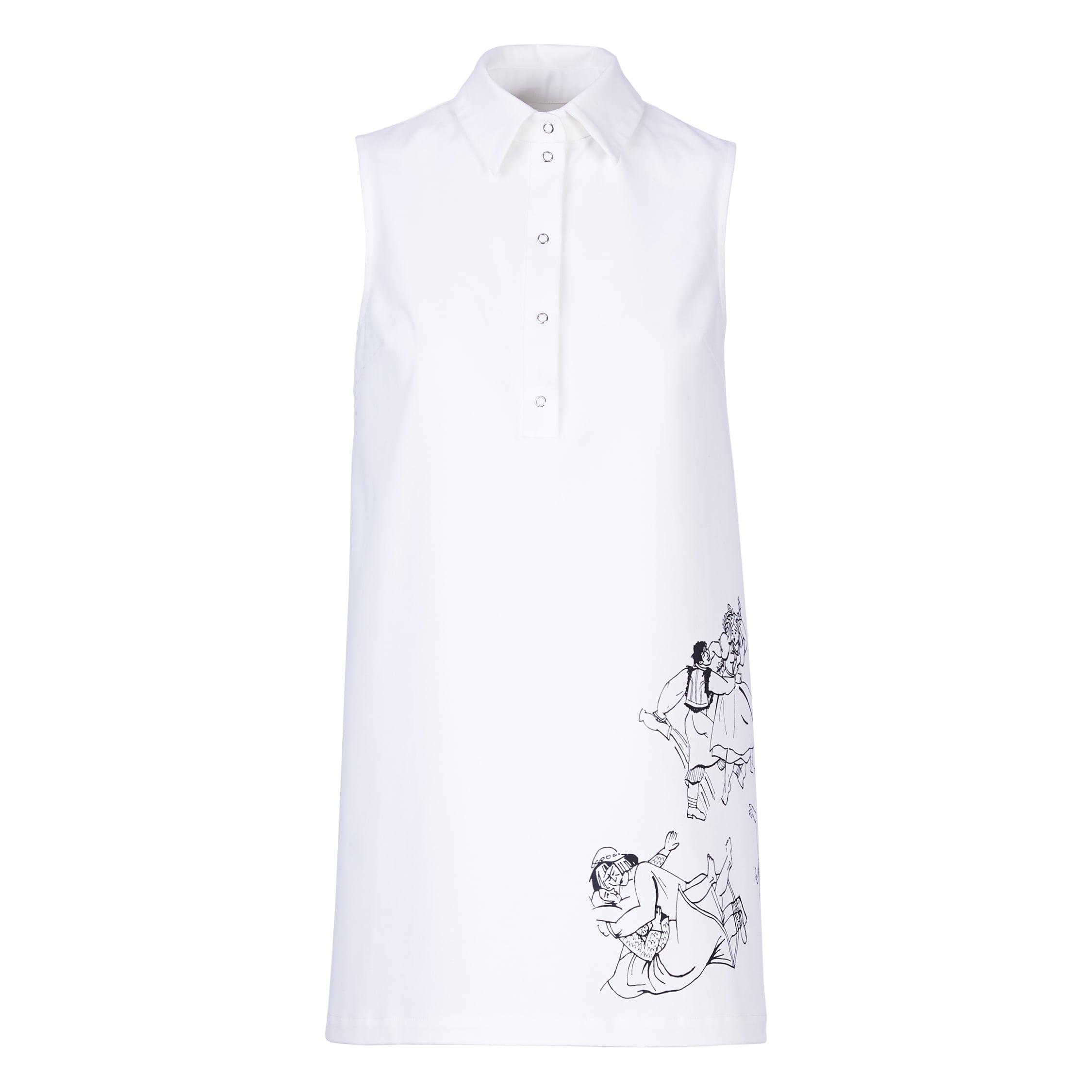 Acephala Ss2019 Slavic Goddesses White Midi Print Dress
