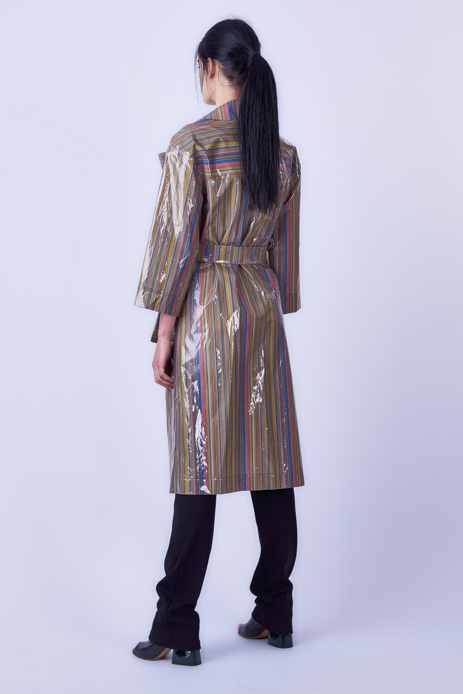 Acephala Ss19 Slavic Goddesses Striped Trench Front Back Side