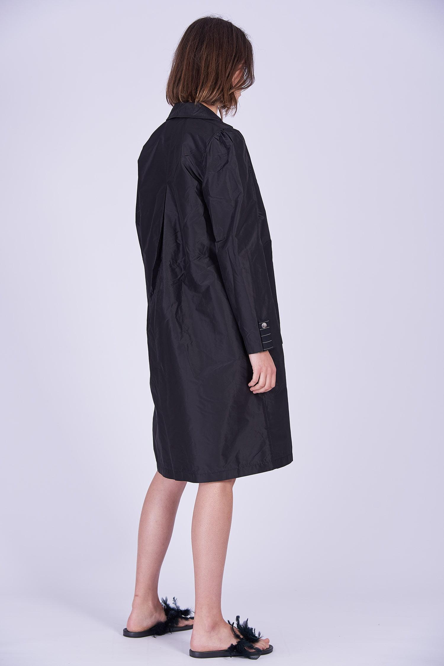Acephala Ps2020 Black Light Coat Czarny Lekki Plaszcz Back