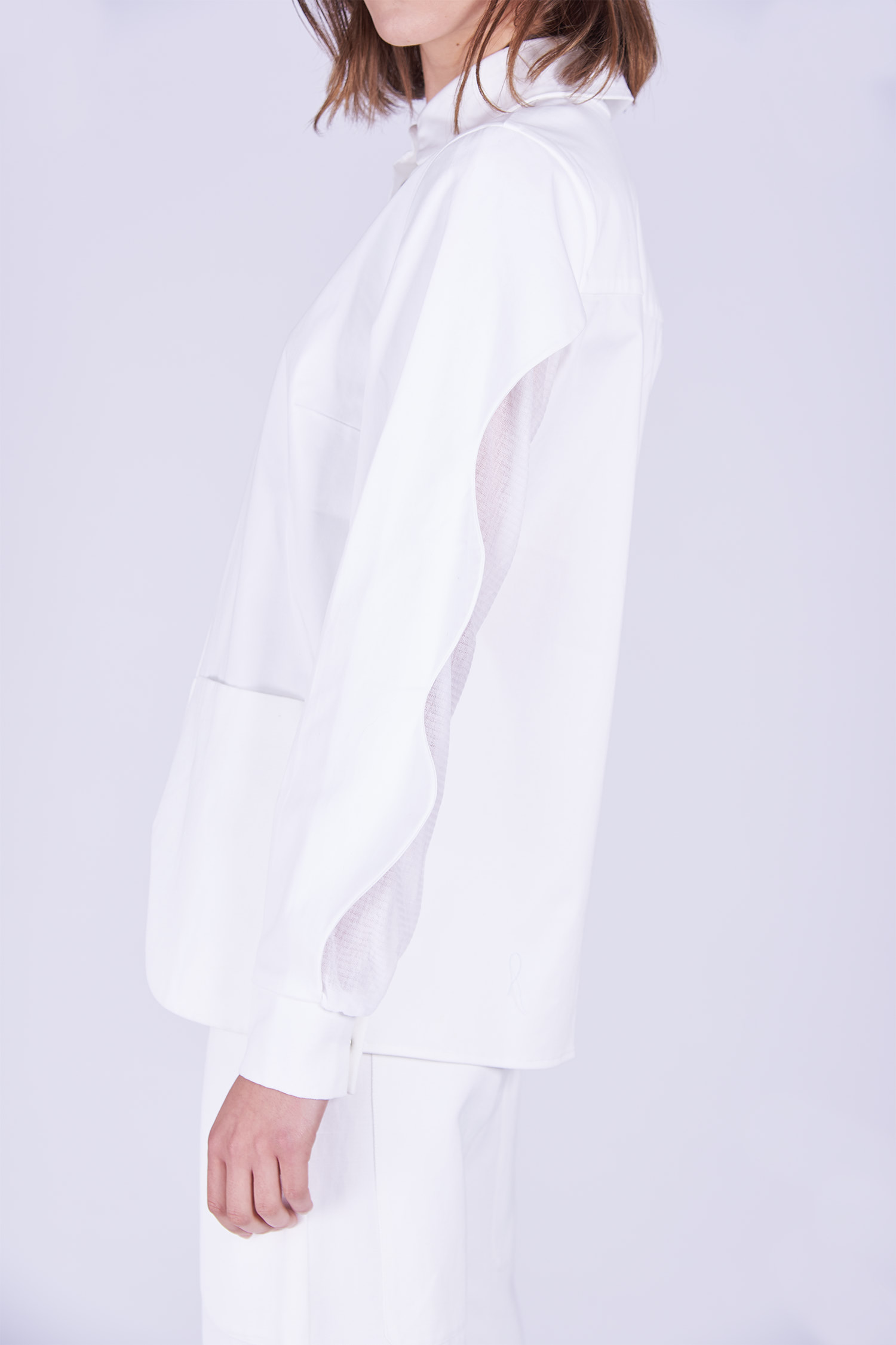 Acephala Ps2020 White Shirt White Trousers Detail