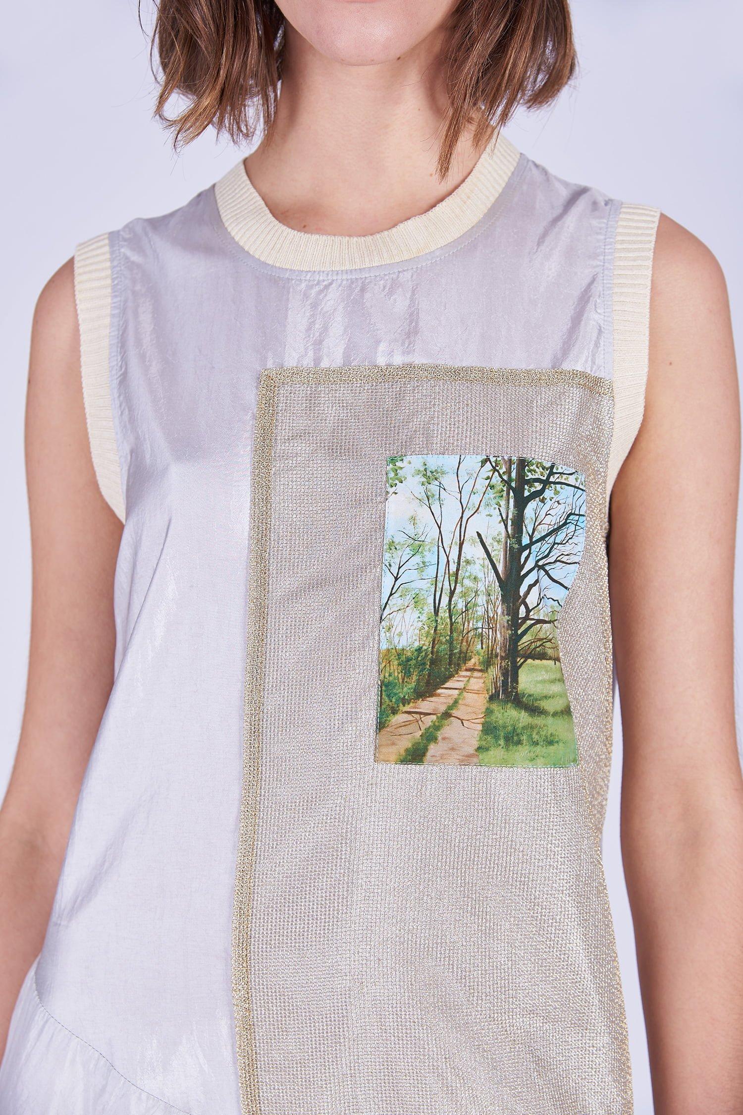 Acephala Ss2020 Sleeveless Summer Dress Letnia Sukienka Detail Top