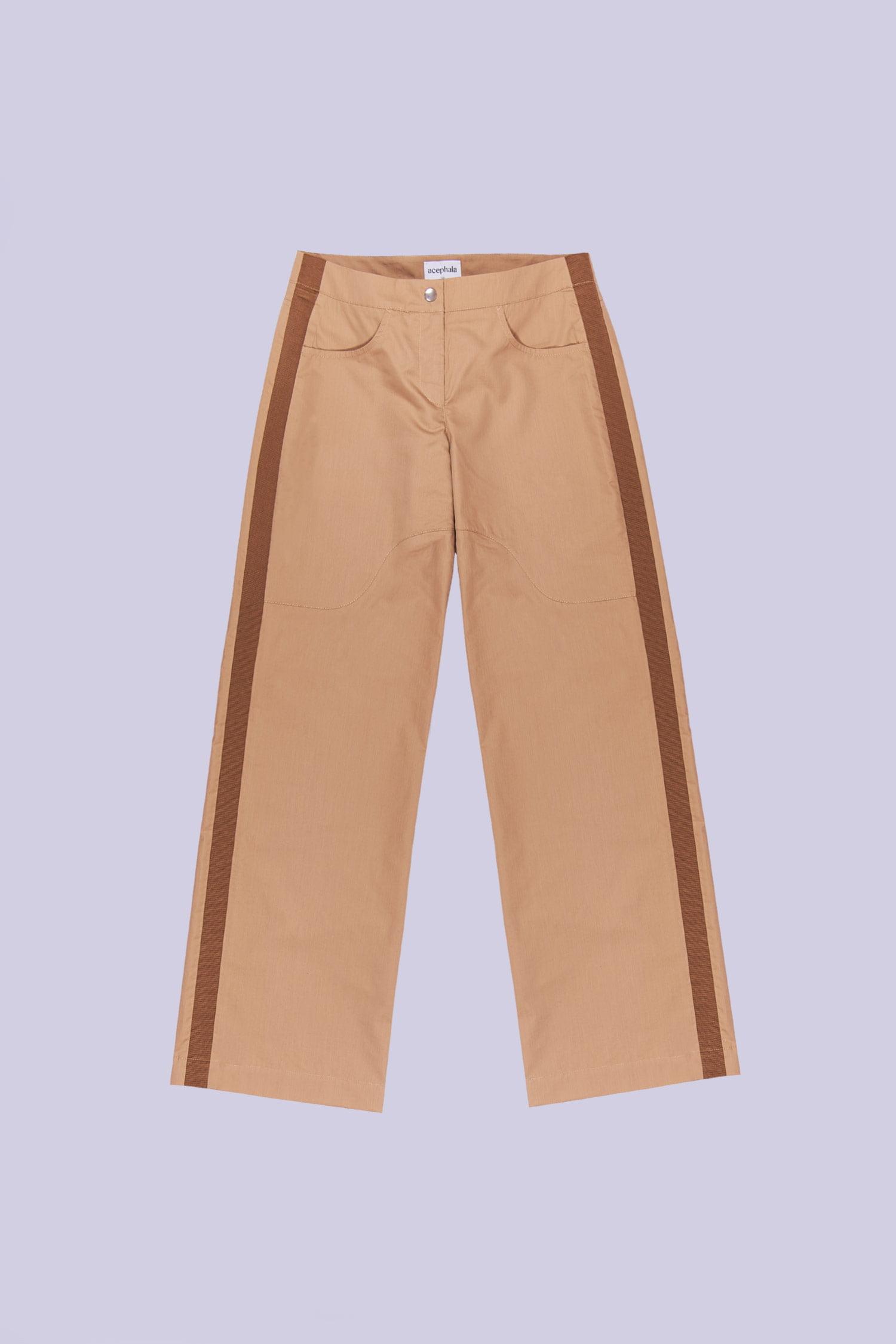Acephala Ss20 Packshot Beige Cargo Trousers Spodnie Bezowe 1500px