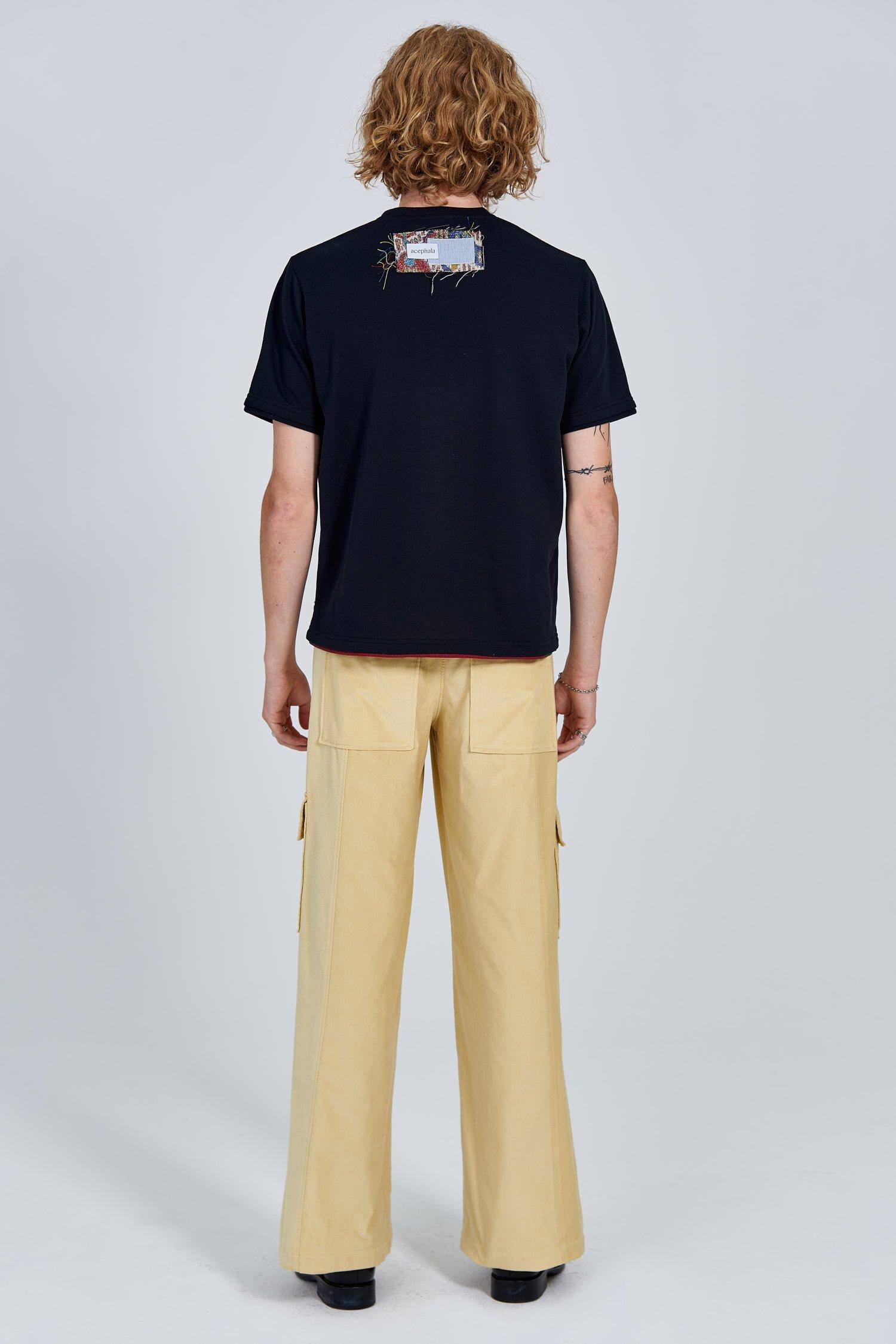 Acephala Fw 2020 21 Black Unisex T Shirt Back Patch Male Back