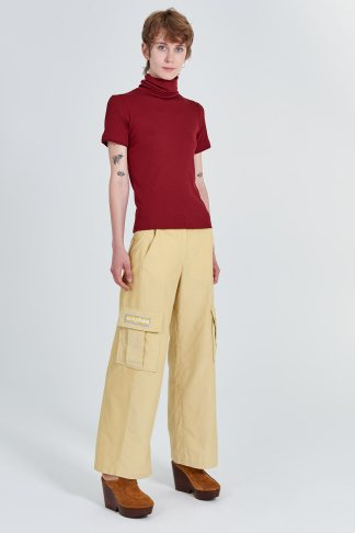 Acephala Fw 2020 21 Yellow Corduroy Trousers Red Turtleneck