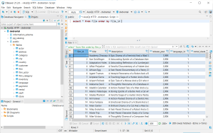 screenshot database select