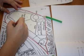 Completing a Phase 1 Survey map of Hamadryad Park