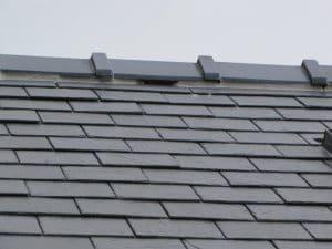 Ridge tile access gap for crevice-dwelling bats