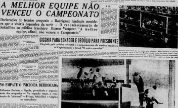 F 13 - Jornal no dia seguinte do Maracanazo - I -