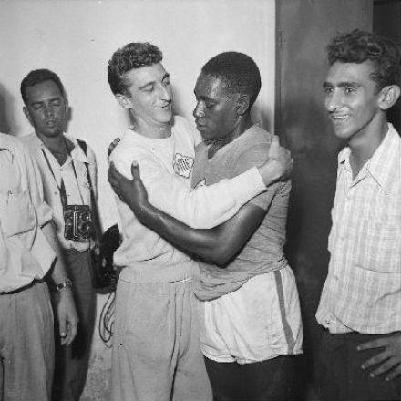 1955 14 mar - seleção carioca x mineira - Martim  Francisco e Leônidas