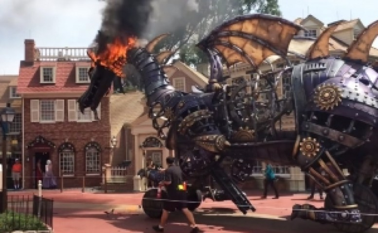 Disney Ride Catches Fire