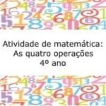 Atividade de Matemática: Situações problema- 4º ano