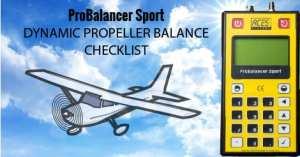 propeller balancing checklist