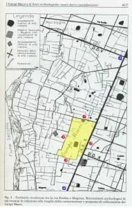 Historical map of Campi Macri, Magreta (MO)