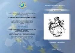UAMI Certificato Acetaia Valeri
