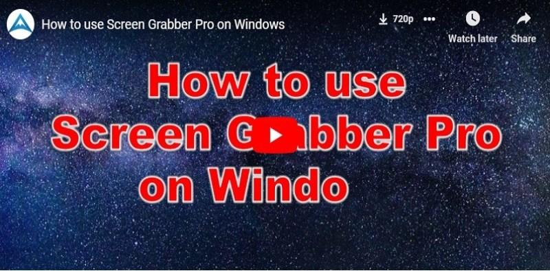 Screen Grabber Pro Video