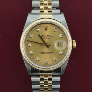 Men's Rolex Datejust 16233 Stainless Steel & 18K Gold