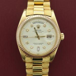 Men's Rolex Day-Date President 1803 18K w/Diamond Dial & Florentine Finish