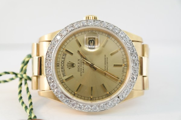 Rolex Day-Date 18038 Diamond Bezel
