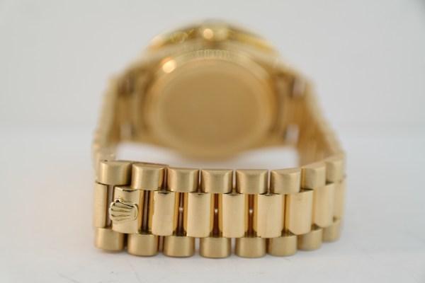 Men's Rolex Day-Date 1803 7ct. Diamond Bezel & Mother of Pearl Diamond Dial