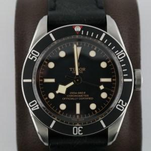 Men's Tudor Heritage Black Bay 79230N Black Aged Leather Strap