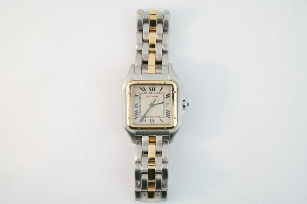 Cartier Panthere 183957 Two-Tone Cream White Roman One Row Band 29mm