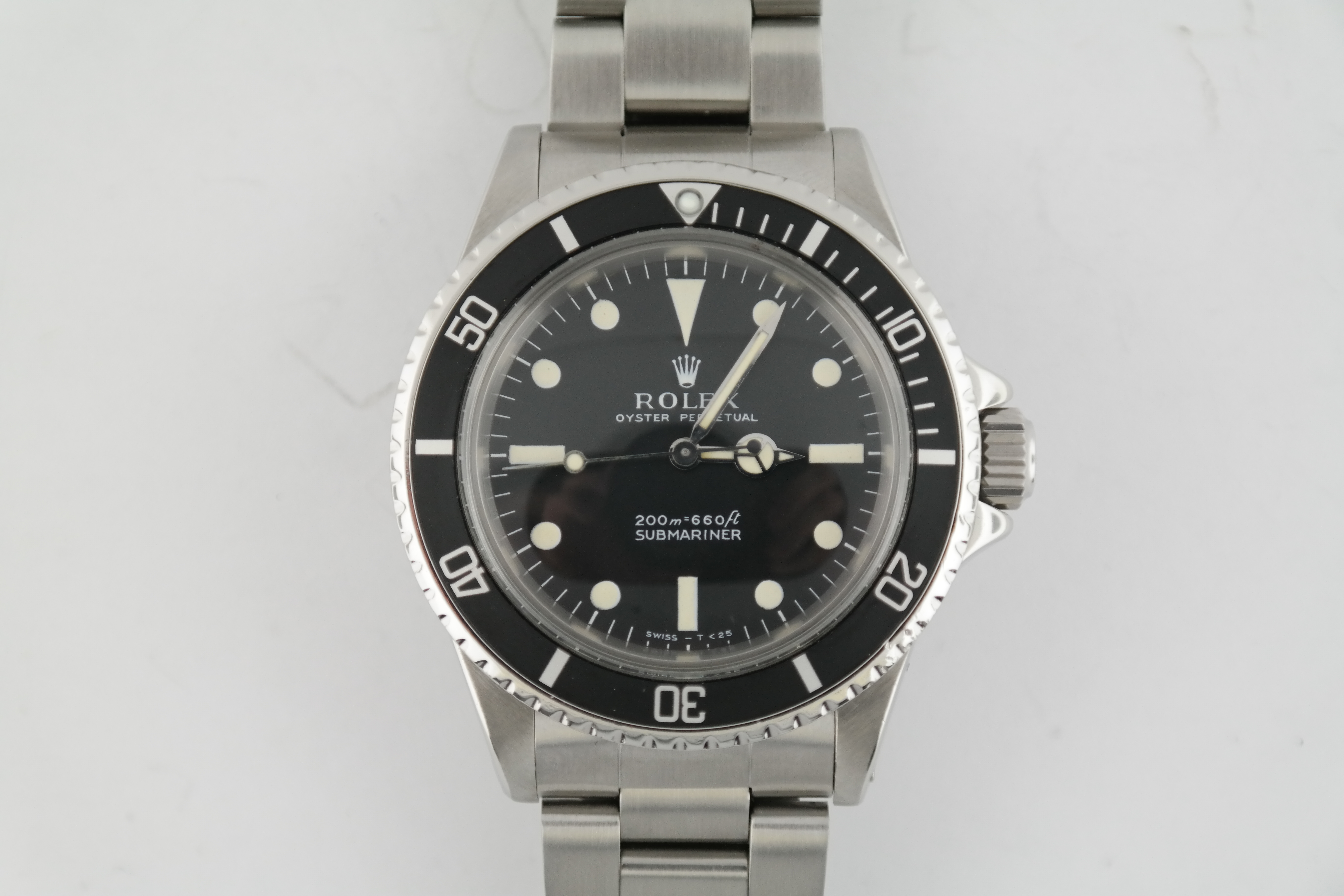 Rolex Submariner 5513 Stainless Steel Meters First Matte Black Dial Buy Rolex Houston 713 521 4444 Sell Rolex Houston