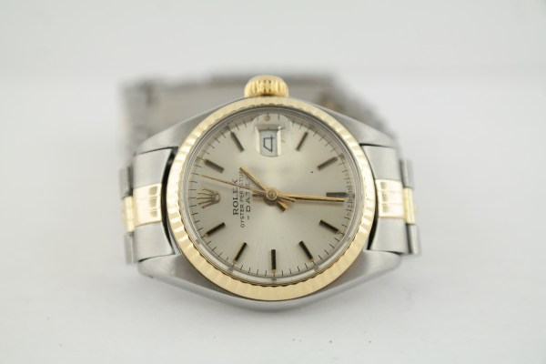 Ladies Rolex Date 6917 Two-Tone Silver Stick Dial Jubilee Band 26 mm Year 1977