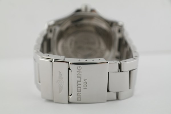 Men's Breitling Avenger II GMT A32390 Stainless Steel 43mm Black Dial Box & Card