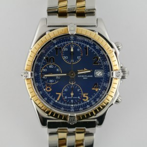 Breitling Chronomat D13050 Two-Tone Blue Dial Chronograph 40mm Automatic