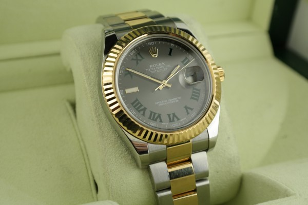 Men's Rolex Datejust II 116333 Slate Roman Dial Two-Tone Oyster Band Year 2011