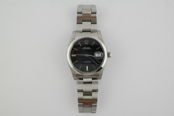 Vintage Rolex OysterDate 6694 Black Dial Oyster Band Stainless Steel Manual Wind