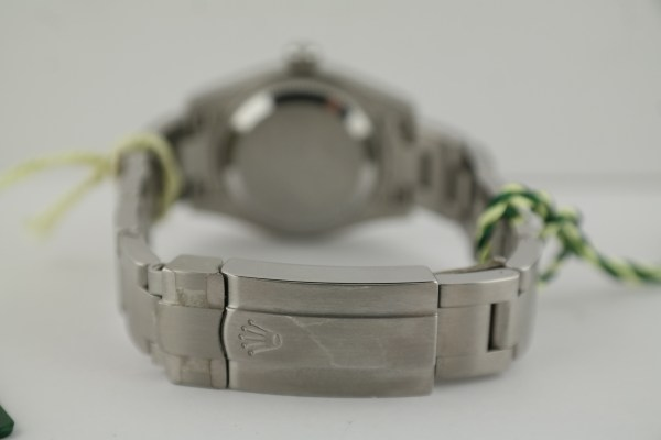 "Ladies Rolex Oyster Perpetual 176200 Silver Arabix Dial ""Domino's Pizza"" 2013"