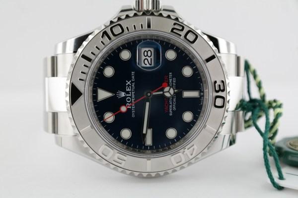 Men's Rolex Yacht-Master 126622 Blue Dial 40mm Platinum Bezel Oyster Band 2020