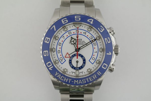Men's Rolex Yacht-Master II 116680 White Dial Stainless Steel 44mm Year 2020