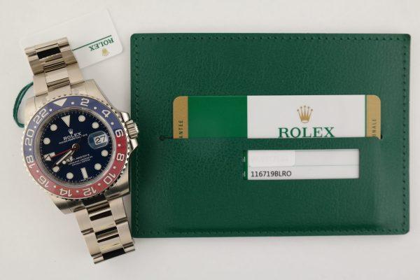 "Rolex GMT-Master II 116719BLRO Blue Dial 18K White Gold ""Pepsi"" Ceramic 2018"
