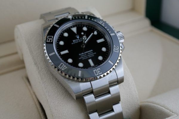 Men's Rolex Submariner 114060 No Date Black Ceramic Bezel & Dial 40mm Year 2020