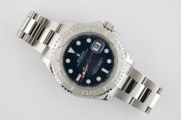 Men's Rolex Yacht-Master 116622 Blue Dial Stainless Steel & Platinum 40mm Oyster