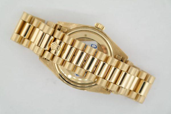 Rolex Day-Date 18038 Mother of Pearl Diamond Dial 18K President Diamond Bezel