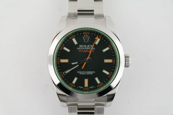 Rolex Milgauss 116400GV Black Dial Green Crystal 40mm Oyster Band Year 2015